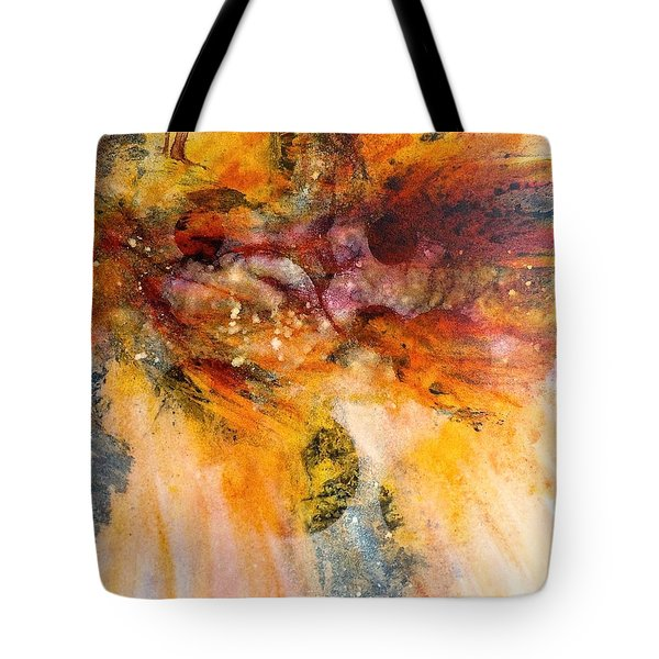 Naturescape In Red Tote Bag