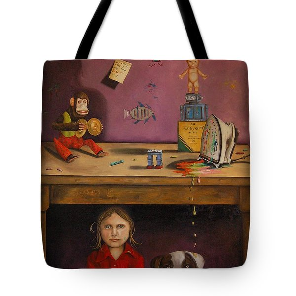 Naughty Child Tote Bag by Leah Saulnier The Painting Maniac