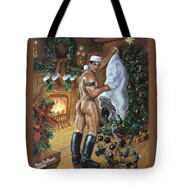Naughty Santa Tote Bag
