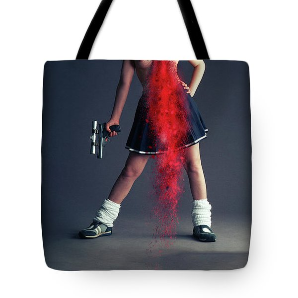 Naughty Schoolgirl Tote Bag