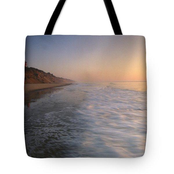 Nauset Light On The Shoreline Of Nauset Tote Bag