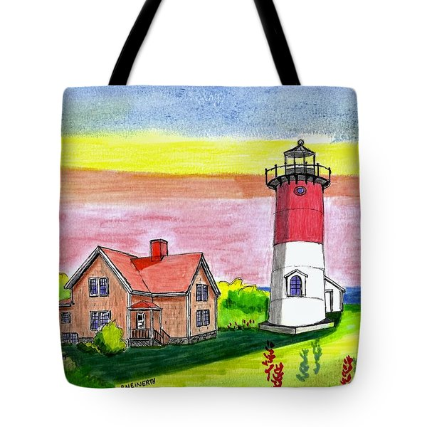 Nauset Point Lighthouse Tote Bag