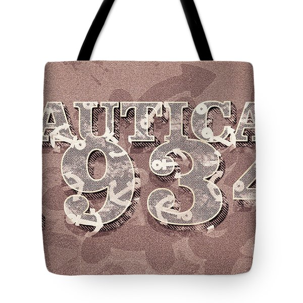 Nautical 1934 Tote Bag