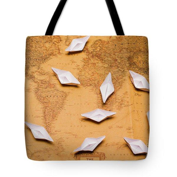 Nautical Adventure Tote Bag