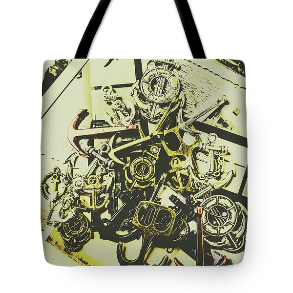 Nautical And Maritime Anchors Tote Bag