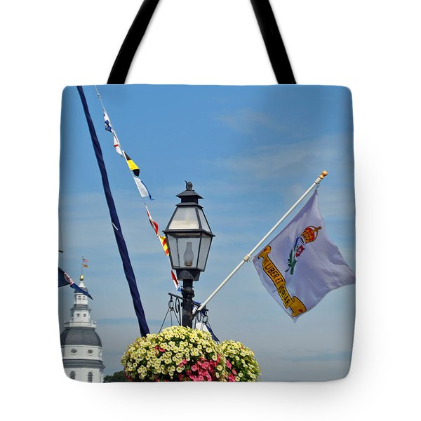 Nautical Annapolis Tote Bag