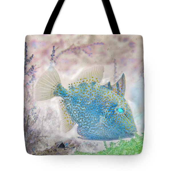 Tote Bag featuring the photograph Nautical Beach And Fish #2 by Debra and Dave Vanderlaan