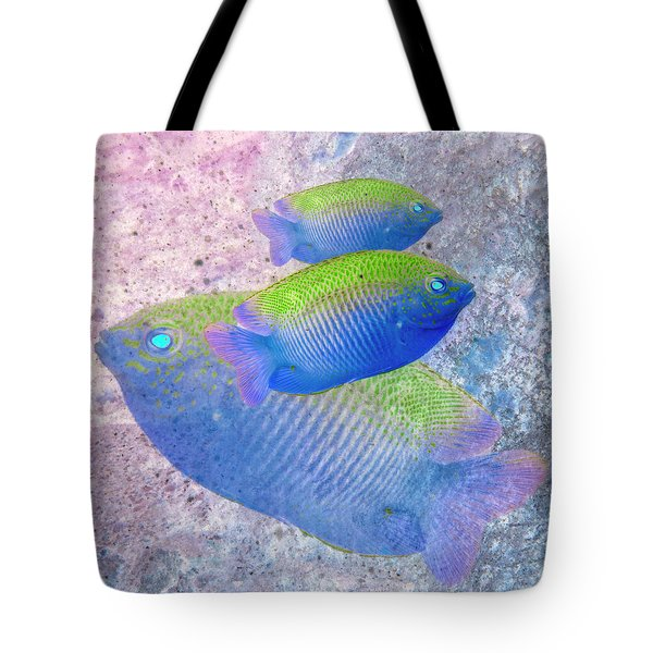 Tote Bag featuring the photograph Nautical Beach And Fish #3 by Debra and Dave Vanderlaan