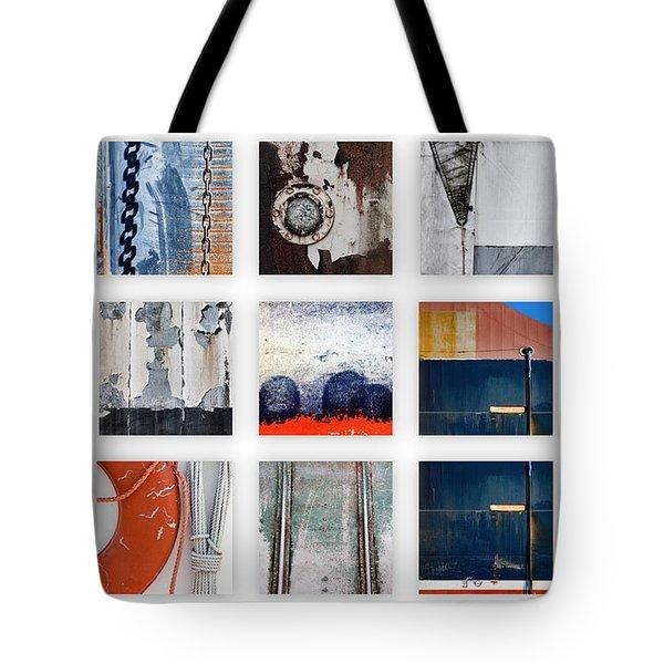 Nautical Bits Panel Number 1 Tote Bag