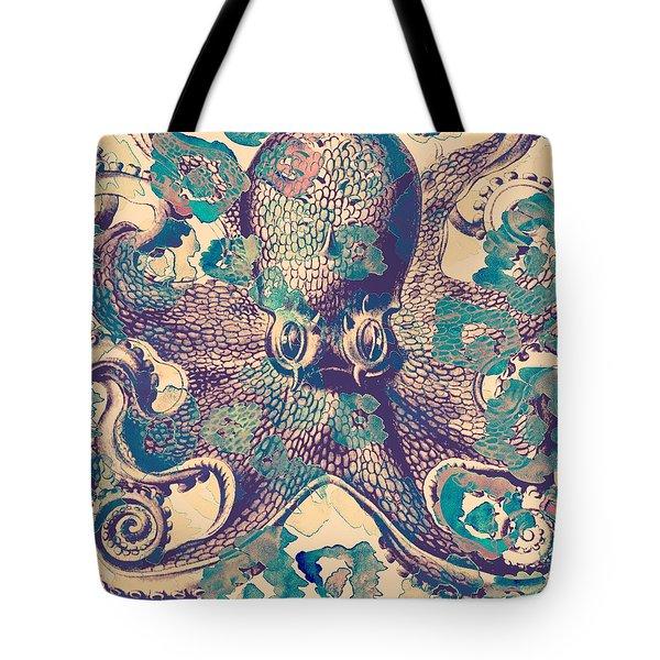 Nautical Octopus Tote Bag