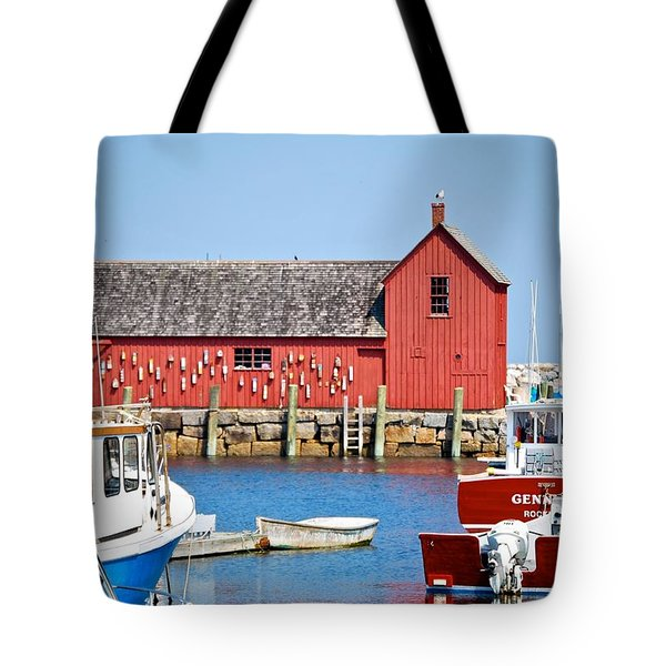 Nautical Rockport Days Tote Bag