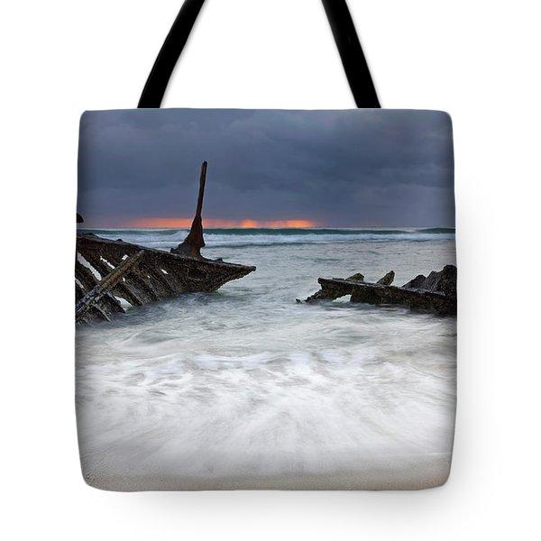 Nautical Skeleton Tote Bag by Mike  Dawson