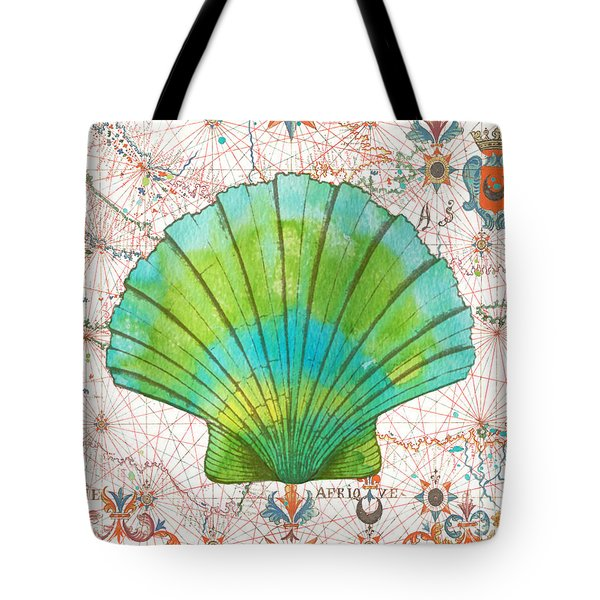 Tote Bag featuring the painting Nautical Treasures-b by Jean Plout