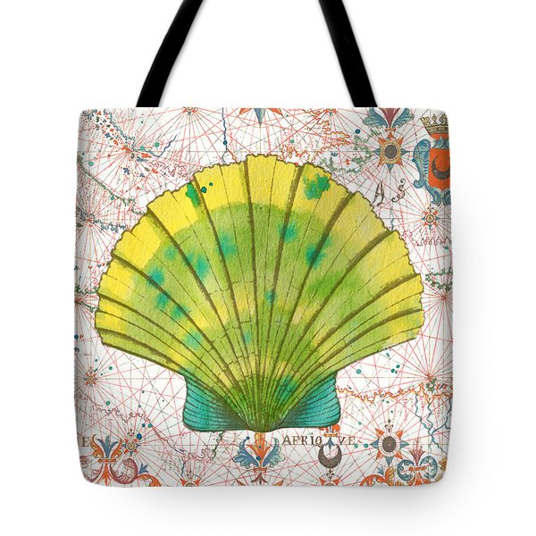 Tote Bag featuring the painting Nautical Treasures-d by Jean Plout