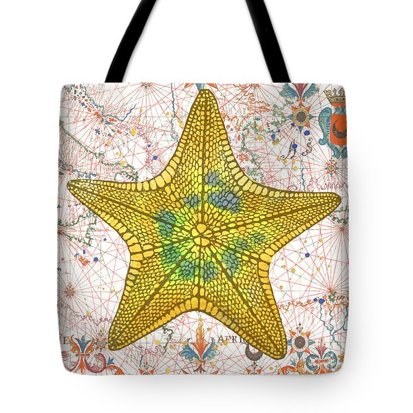 Tote Bag featuring the painting Nautical Treasures-j by Jean Plout
