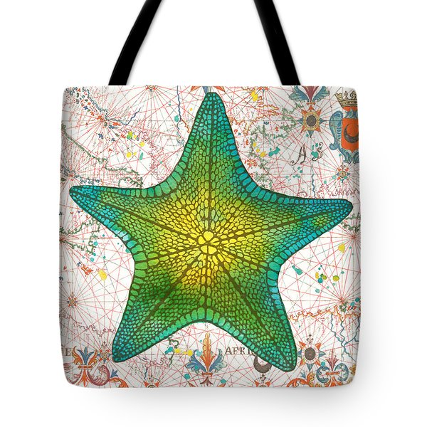 Tote Bag featuring the painting Nautical Treasures-l by Jean Plout