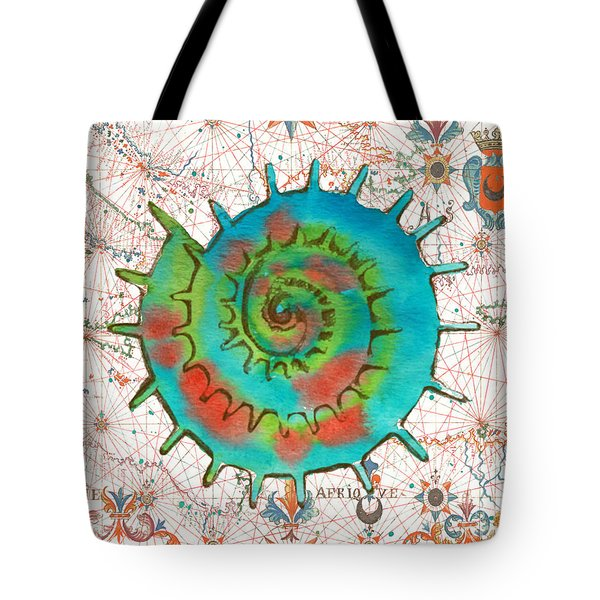 Tote Bag featuring the painting Nautical Treasures-m by Jean Plout