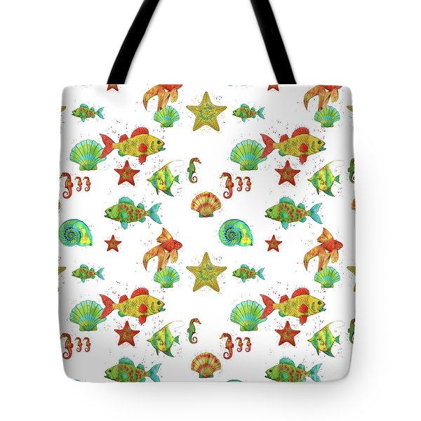 Tote Bag featuring the painting Nautical Treasures-s by Jean Plout