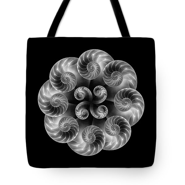 Tote Bag featuring the photograph Nautilus Abstract Art by Tom Mc Nemar