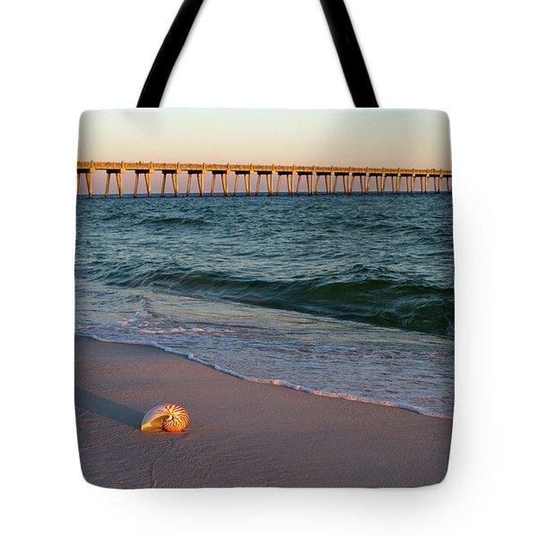 Nautilus And Pier Tote Bag