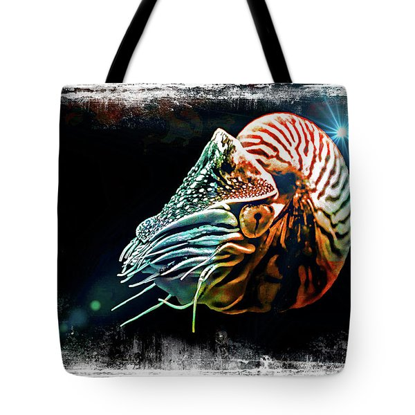 Tote Bag featuring the digital art Nautilus Dreams by T A Davies