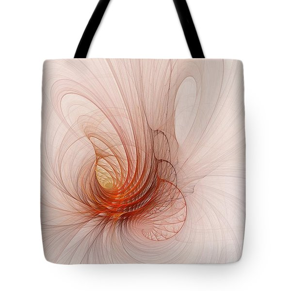 Nautilus In The Fractal Ether Tote Bag