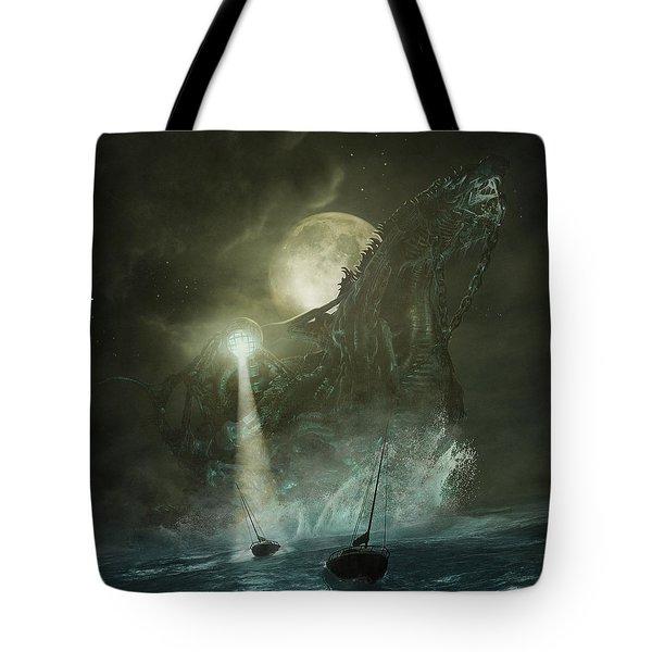 Tote Bag featuring the digital art Nautilus by Uwe Jarling