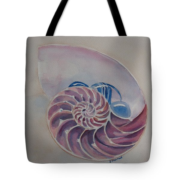 Nautilus With Glass Stones Tote Bag by Jenny Armitage