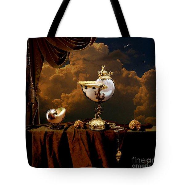 Tote Bag featuring the digital art Nautilus Cups by Alexa Szlavics