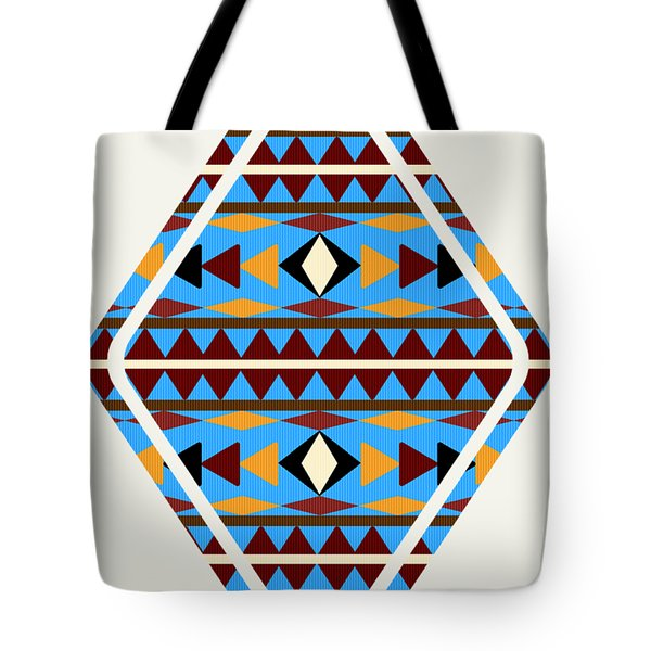 Navajo Blue Pattern Art Tote Bag