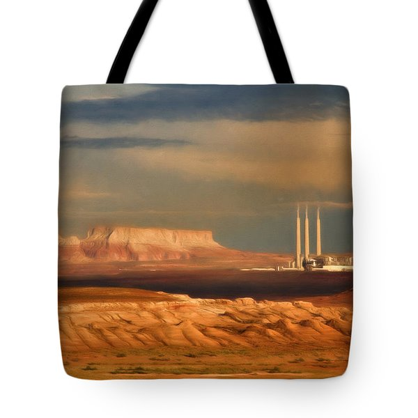 Tote Bag featuring the photograph Navajo Generating Station by Lana Trussell