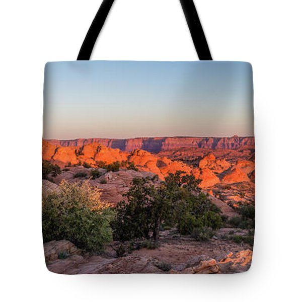 Navajo Land Morning Splendor Tote Bag