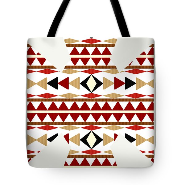 Navajo White Pattern Art Tote Bag