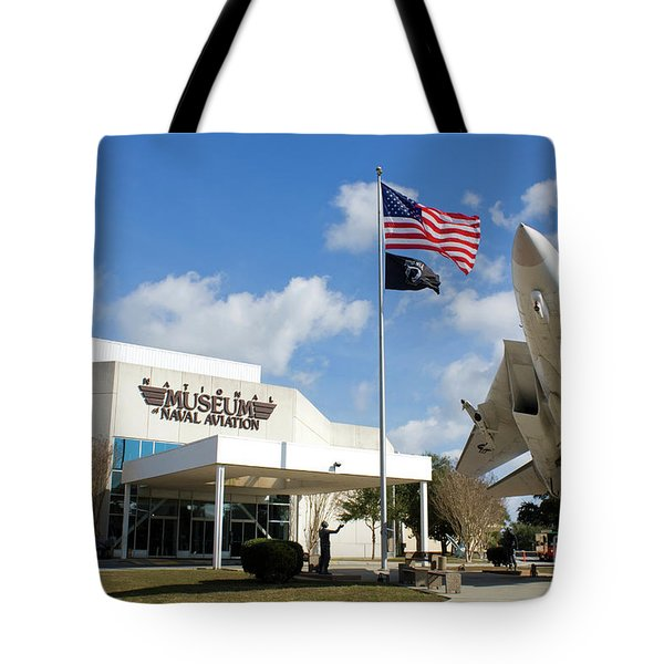 Tote Bag featuring the photograph Naval Aviation Museum by Steven Frame