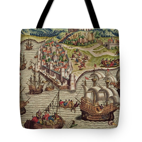 Naval Combat Tote Bag by Theodore de Bry