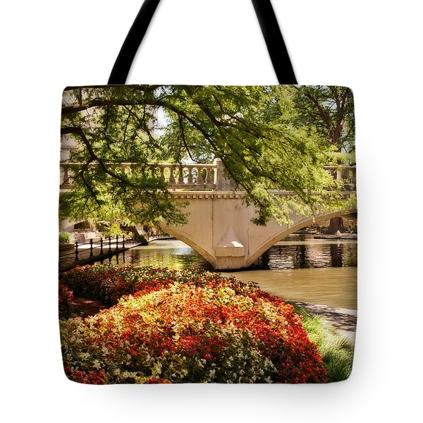 Tote Bag featuring the photograph Navarro Street Bridge by Steven Sparks