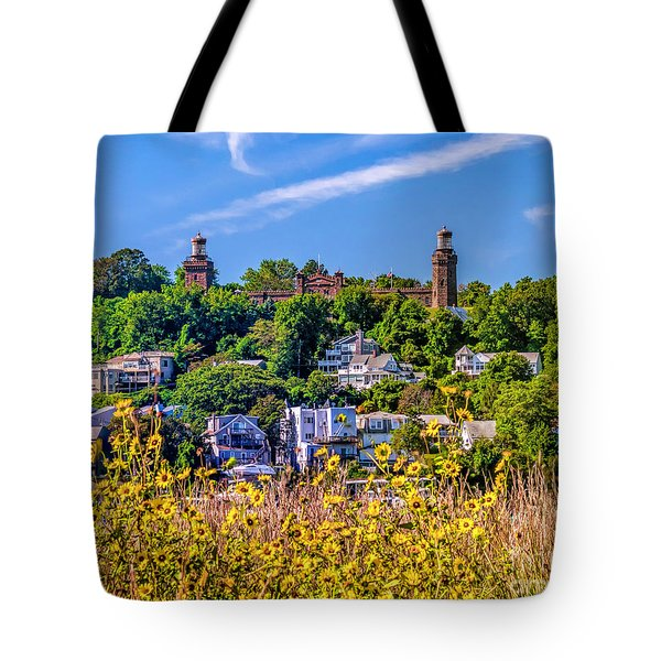 Navesink Light On The Hill Tote Bag
