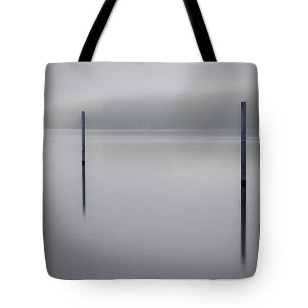 Navigating In Fog Tote Bag
