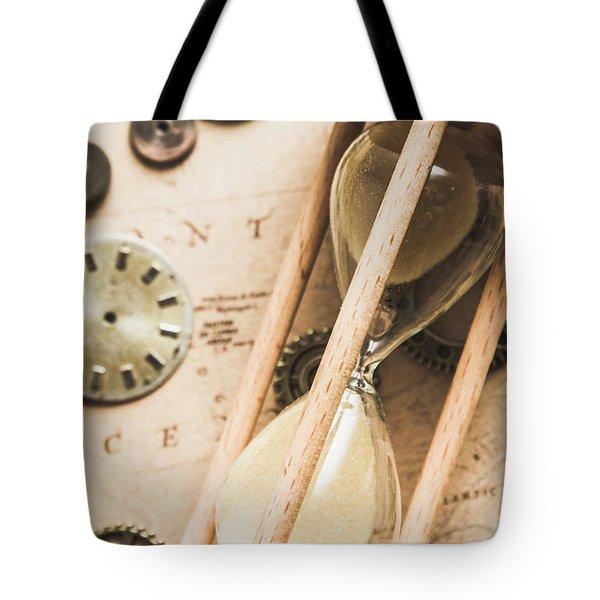 Navigating Vintage Time Tote Bag