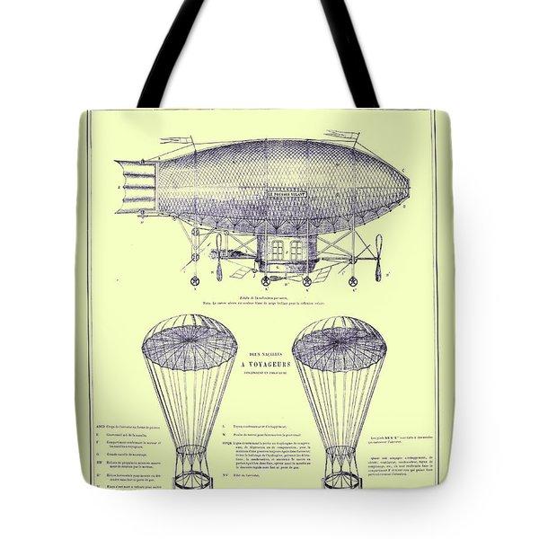 Navire Aerien Tote Bag