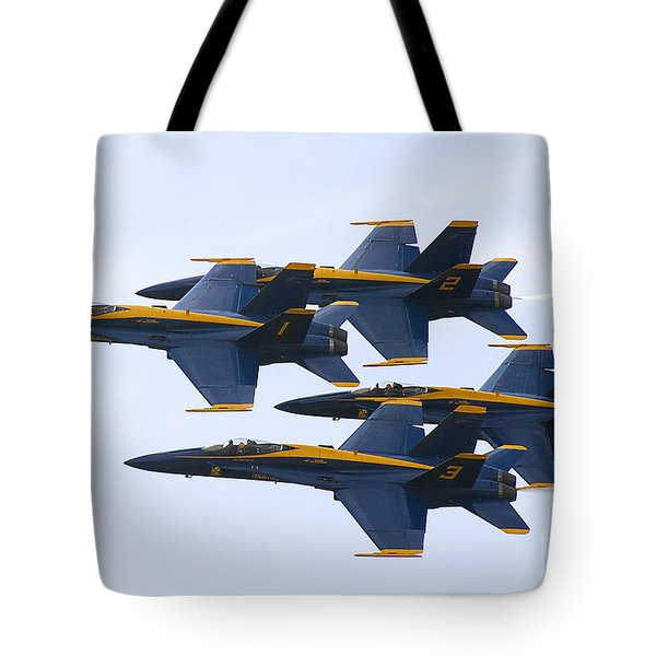 Tote Bag featuring the photograph Navy Blue Angels  by Ricky L Jones