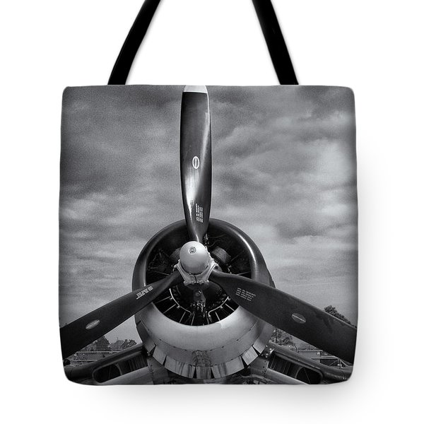 Navy Corsair Propeller Tote Bag by Roger Wedegis