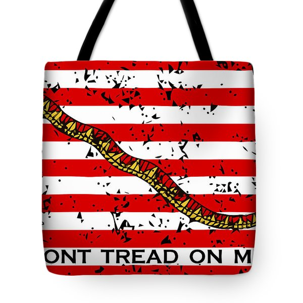 Navy Jack Flag - Don't Tread On Me Tote Bag