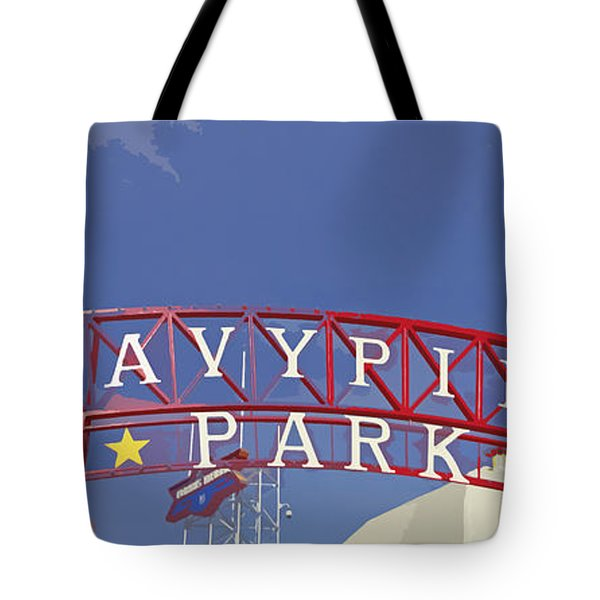 Navy Pier Tote Bag by Mary Machare