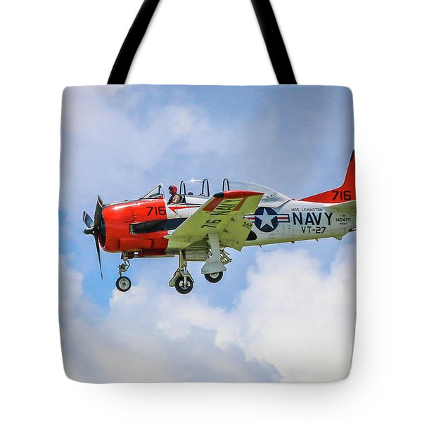 Tote Bag featuring the photograph Navy Trainer #2 by Tom Claud