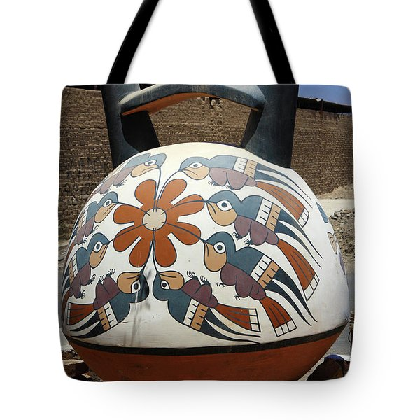 Tote Bag featuring the photograph Nazca Ceramics Peru by Aidan Moran