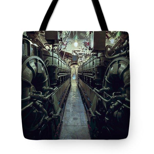 Nazi U-boat Submarine Engine Room - World War Two Tote Bag