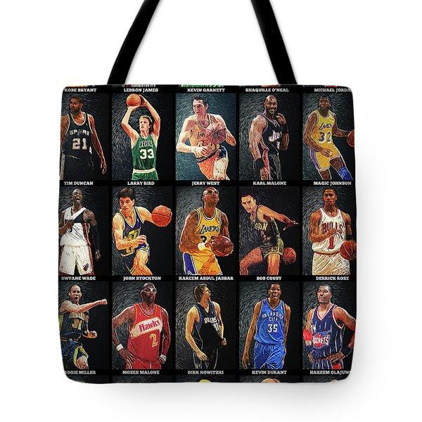 Nba Legends Tote Bag