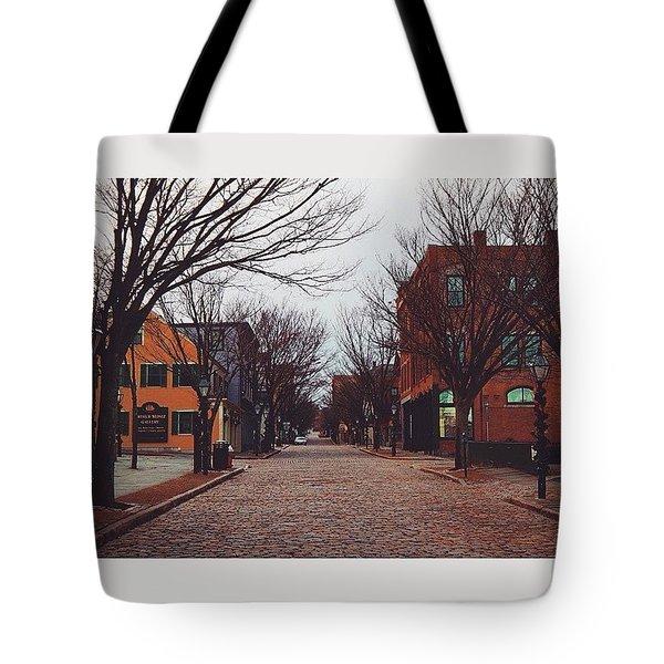 A Christmas Morning Downtown  Tote Bag