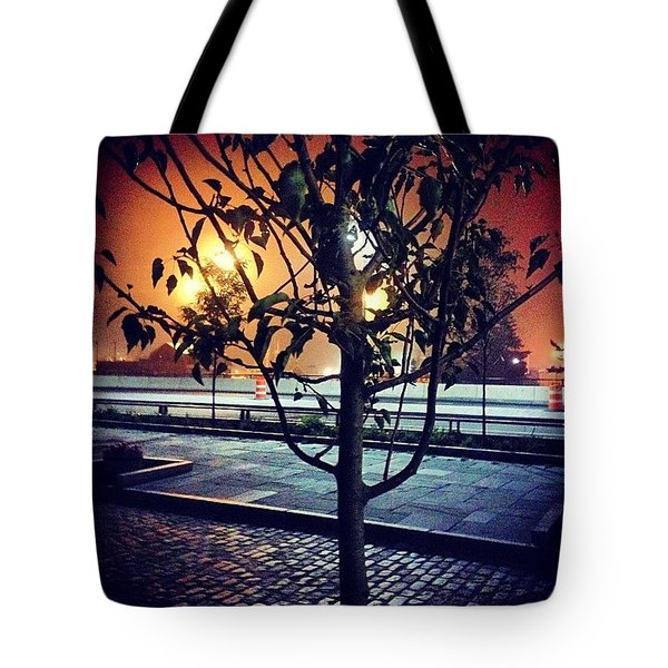 Rainy Downtown Night Tote Bag